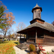 Romanian wooden church — Stock Photo