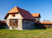 Old countryside barn in Romania - see the whole series — Zdjęcie stockowe