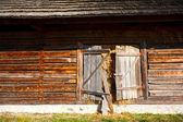 Old countryside barn in Romania - see the whole series — Stok fotoğraf