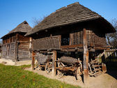 Old countryside barn in Romania - see the whole series — Foto de Stock
