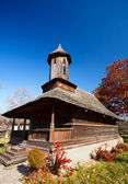 Romanian wooden church — Stock Photo