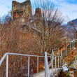 Dracula's fortress at Poienari, Romania — Stockfoto