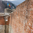 Dracula's fortress at Poienari, Romania - Stock Photo