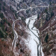 Stock Photo: Transfagarasroad and river Arges in Romania