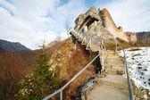 Dracula's fortress at Poienari, Romania — Stock Photo
