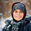 Winter portrait of a cute kid — Stock Photo