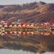 Houses by the lake — Stok fotoğraf