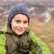 Closeup of a cute kid outdoor — Stock Photo #4599064