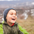 Closeup of a cute kid outdoor — Stock Photo #4599066