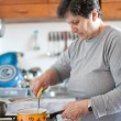 Senior woman cooking — Stock Photo #4602278