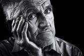 Expressif portrait senior — Photo