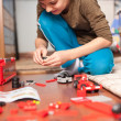 Boy playing with toys — Stock Photo