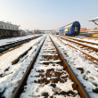 Railway in the winter - Stockfoto