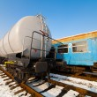Petroleum tank on railway — Stock Photo