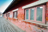 Building with red brick wall — Stock Photo