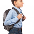 School kid with backpack — Stock Photo #4814202