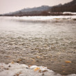 River in winter — Stockfoto