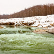 River in winter — 图库照片