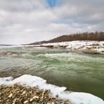 River in winter — Stock Photo