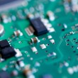 Green circuit board macro - Stock Photo