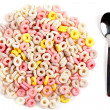 Stock Photo: Colorful ring cereals
