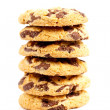 Biscuits with chocolate chips — Stock Photo