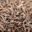 Macro of dried black tea — Stock Photo