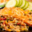 Salmon fillet with vegetables — Stok fotoğraf