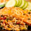 Salmon fillet with vegetables — Stock Photo