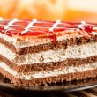 Layered dessert on a plate — Stock Photo