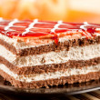 Stock Photo: Layered dessert on plate