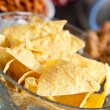 Nachos in a bowl - Stock Photo