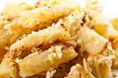 Macro of macaroni with cheese — Stock Photo