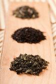 Jiaogulan, black and green tea — Stock Photo
