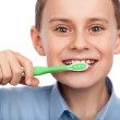 Child brushing his teeth — Stock Photo #5009654