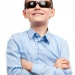 Child with sunglasses isolated on white — Stock Photo #5009663