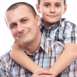 Royalty-Free Stock Photo: Happy father and son
