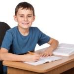 school kind huiswerk — Stockfoto