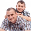 Stockfoto: Happy father and son