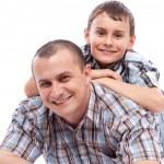 mutlu baba ve oğul — Stok fotoğraf
