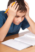 Too much homework — Stock Photo