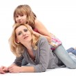 Mother and daughter having fun — Stock Photo