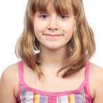 Little girl closeup portrait — Stock Photo