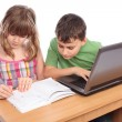 School children working together, educational concept — Stockfoto
