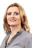 Sorride fiducioso busineswoman — Foto Stock