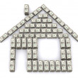 House made of dollars — Stock Photo