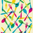 Cutlery transparency pattern background - Stock Vector