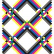 Geometric pattern multicolored — Stock Vector