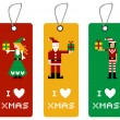 Постер, плакат: Xmas tag with pixel characters