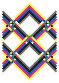 Geometric pattern multicolored — Stock Vector